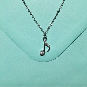 Jewelry - Silver Music Note Necklace